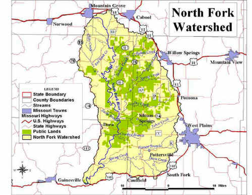 north fork river watershed map